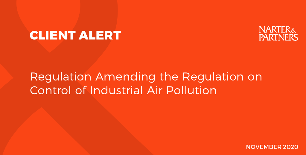 Regulation Amending the Regulation on Control of Industrial Air Pollution